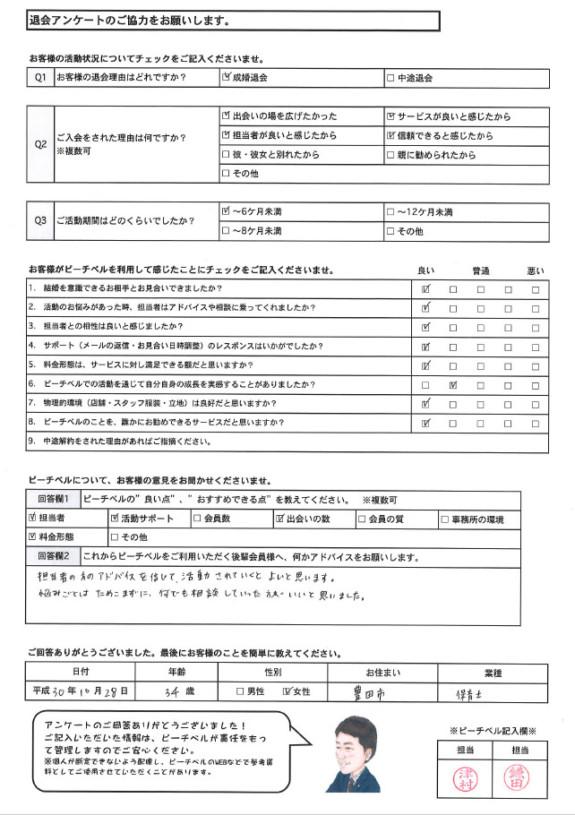20181028成婚退会アンケート