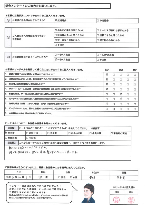 20181209|成婚退会アンケート