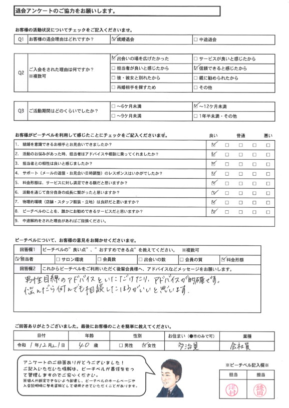 20191221|成婚退会アンケート